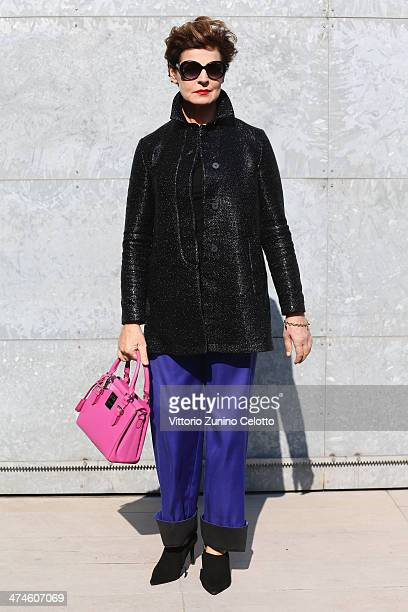 Antonia Dell'Atte attends the Giorgio Armani show during the Milan Fashion Week Womenswear Autumn/Winter 2014 on February 24 2014 in Milan Italy