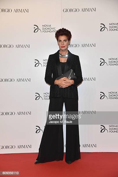 Antonia Dell'Atte attends the Milano Gala Dinner benefitting the Novak Djokovic Foundation presented by Giorgio Armani at Castello Sforzesco on...