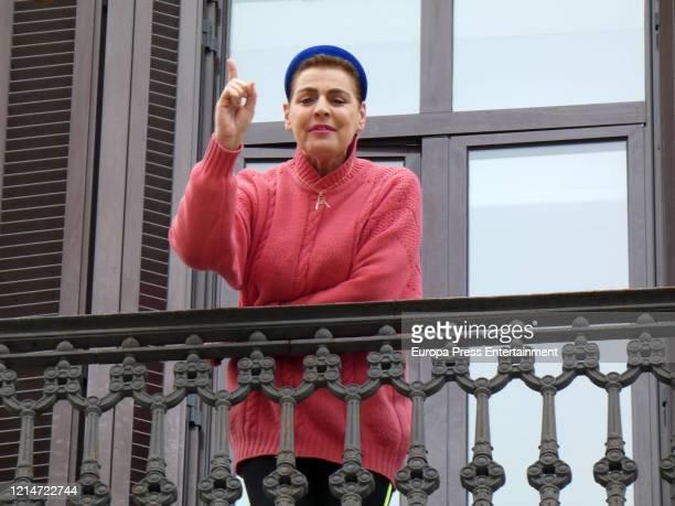 Antonia Dell'Atte is seen on March 24 2020 in Barcelona Spain