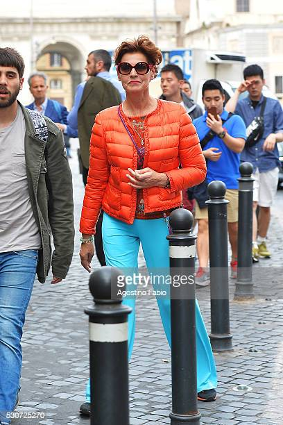 Antonia Dell'Atte is seen wearing Armani sunglasses and Moncler jacket for a sporty look on May 11 2016 in Rome Italy