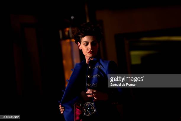 Antonia Dell'atte walks the runway during the 'The Extreme Collection' fashion show at Wellington Hotel on March 2 2018 in Madrid Spain