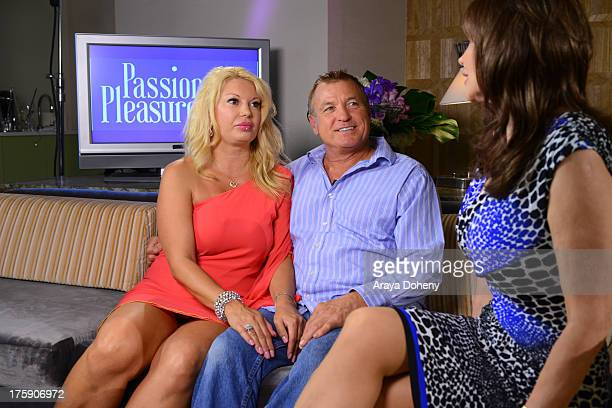 Antonia Dorian Bill Sheaffer and Dr Ava Cadell attend 'Passion And Pleasure' series taping starring Tracey Jewel and worldrenowned relationship and...