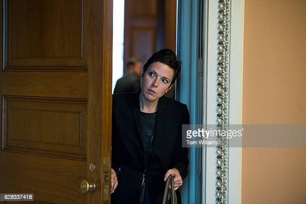 Antonia Ferrier, staff director for the Senate Republican Communications Center, leaves a meeting in the Capitol, November 29, 2016.