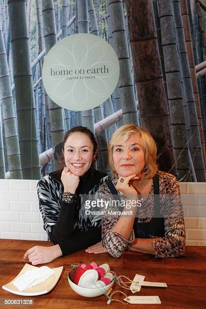 Antonia Feuerstein and Jutta Speidel attend the 'Home On Earth' Shop Opening on December 9 2015 in Berlin Germany