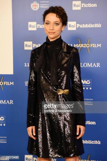 Antonia Fotaras attends Il Nome Della Rosa Photocall on March 01 2019 in Milan Italy