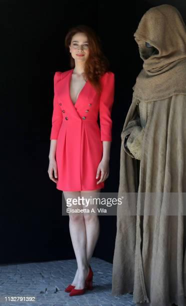 Antonia Fotaras attends the photocall for Il Nome Della Rosa at Rai Viale Mazzini on February 28 2019 in Rome Italy