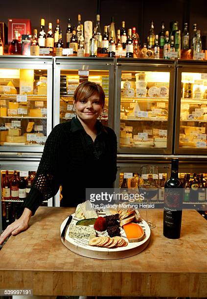 Antonia Gilroy with a tasting plate in the GPO Cheese Cellar GPO Sydney Martin Place 24 May 2006 SMH Picture by MARCO DEL GRANDE