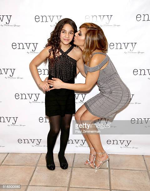Antonia Gorga and Melissa Gorga attend the envy By Melissa Gorga Fashion Show at Macaluso's on March 30 2016 in Hawthorne New Jersey
