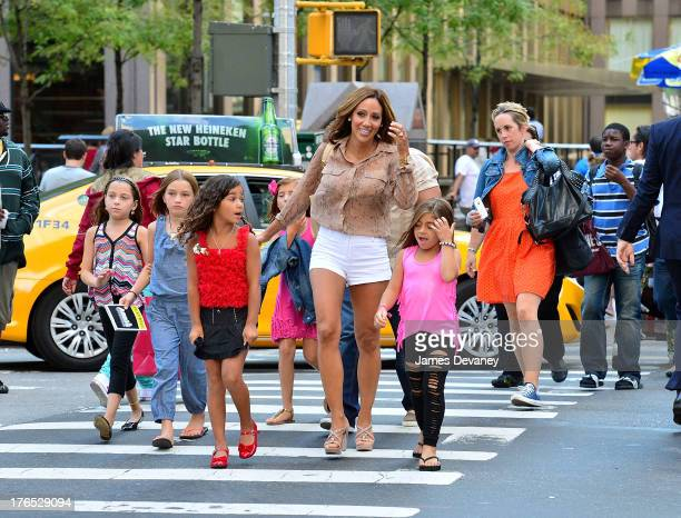 Antonia Gorga Melissa Gorga and Milania Giudice seen on the streets of Manhattan after attending ANNIE the Musical on August 14 2013 in New York City