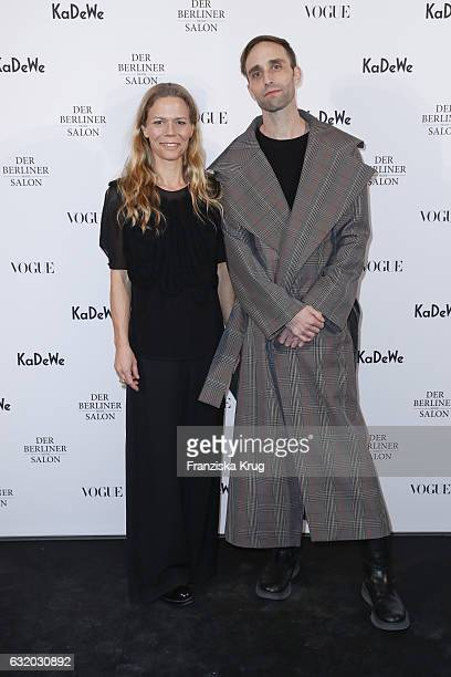 Antonia Goy and Bjoern Kubeja attend the celebration of 'Der Berliner Mode Salon' by KaDeWe Vogue at KaDeWe on January 18 2017 in Berlin Germany