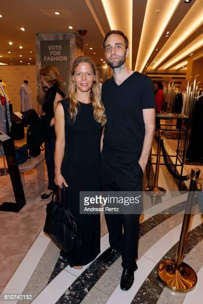 Antonia Goy and Bjoern Kubeja attend the celebration of 'Der Berliner Mode Salon' by KaDeWe Vogue at KaDeWe on July 8 2017 in Berlin Germany