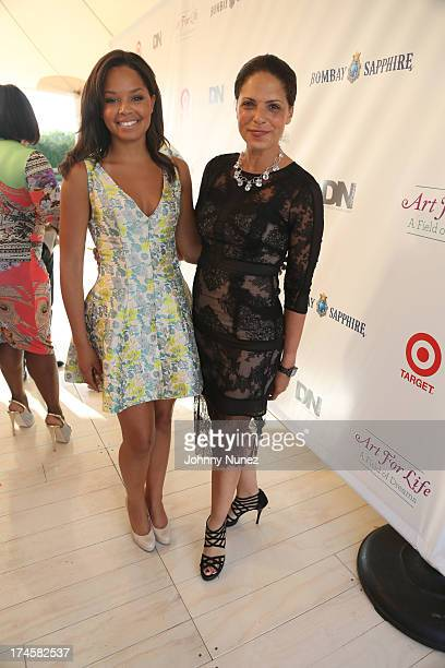 Antonia Hylton and Soledad O'Brien attend the 14th Annual Art For Life Gala A Field Of Dreams at Fairview Farms on July 27 2013 in Bridgehampton New...