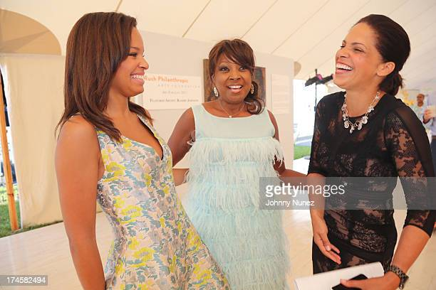 Antonia Hylton Star Jones and Soledad O'Brien attend the 14th Annual Art For Life Gala A Field Of Dreams at Fairview Farms on July 27 2013 in...