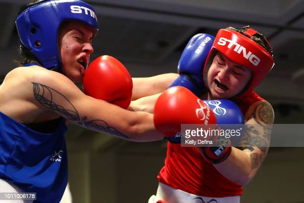 Antonia Kay and Kristy Harris compete during the 2018 Elite Australian Women's World Championship Selection Trials at Rendezvous Hotel on July 28...