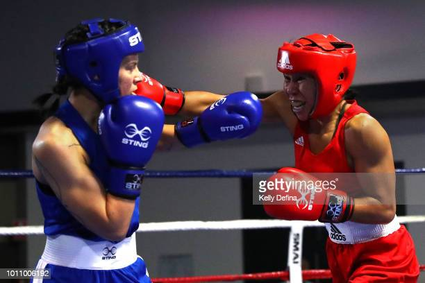 Antonia Kay and Lizza Gebilagin compete during the 2018 Elite Australian Women's World Championship Selection Trials at Rendezvous Hotel on July 27...