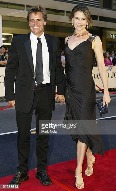 Antonia Kidman and Angus Hawley arrive at the David Jones Launch Party at Elizabeth Street on November 13, 2004 in Sydney, Australia.