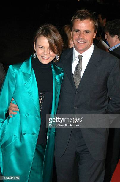 Antonia Kidman and Angus Hawley arrive for the World Premiere of the film 'The Interpreter' at the Sydney Opera House on April 04, 2005 in Sydney,...
