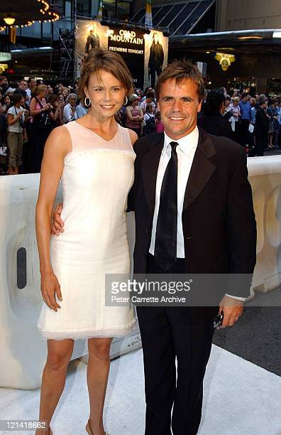 Antonia Kidman and her husand Angus Hawley arrive for the Australian premiere of the film 'Cold Mountain' at the State Theatre on December 17, 2003...
