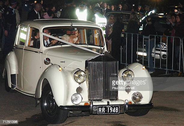 Antonia Kidman and Isabella Kidman Cruise arrive at St Patrick's College for the wedding of musician Keith Urban and actress Nicole Kidman on June 25...
