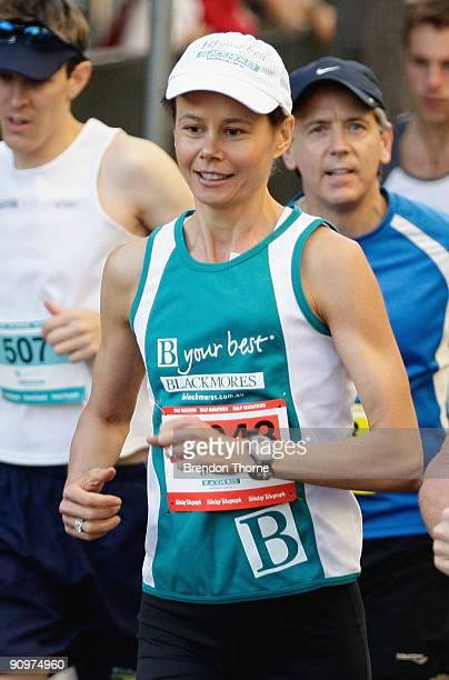 Antonia Kidman participates during The Sydney Running Festival at the Half Marathon on September 20 2009 in Sydney Australia