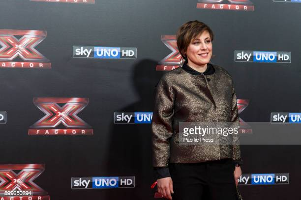 Antonia Klugmann attending the red carpet of the X Factor 11 Finale