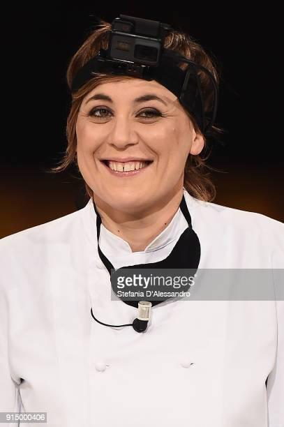 Antonia Klugmann attends 'E Poi C'e Cattelan' tv show on February 6 2018 in Milan Italy