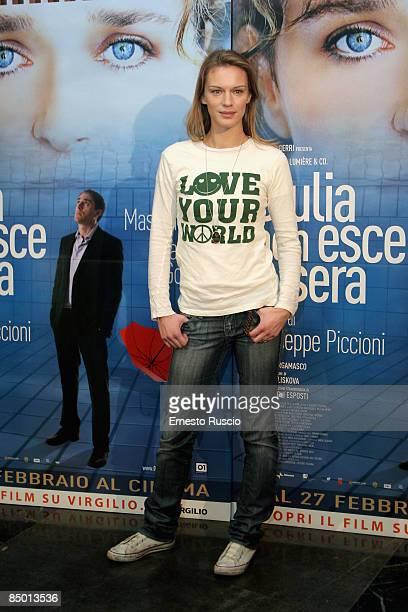 Antonia Liskova attends Giulia Non Esce La Sera photocall on February 24 2009 in Rome Italy