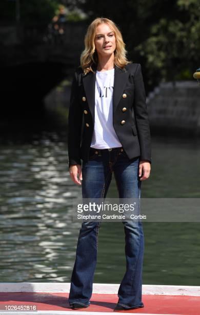 Antonia Liskova is seen arriving at the 75th Venice Film Festival on September 3 2018 in Venice Italy