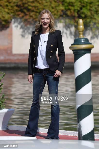 Antonia Liskova is seen during the 75th Venice Film Festival on September 3 2018 in Venice Italy