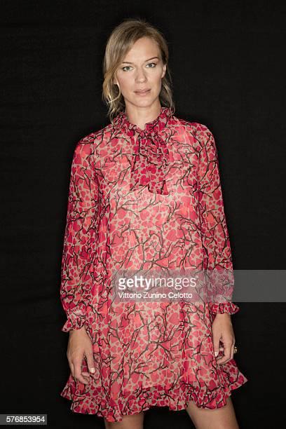 Antonia Liskova poses on July 16 2016 in Giffoni Valle Piana Italy