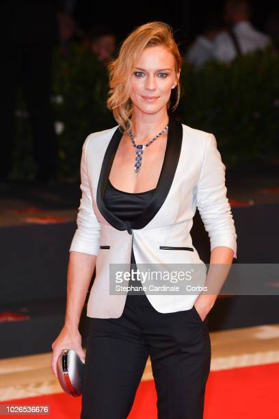 Antonia Liskova walks the red carpet ahead of the 'Dragged Across Concrete' screening during the 75th Venice Film Festival at Sala Grande on...