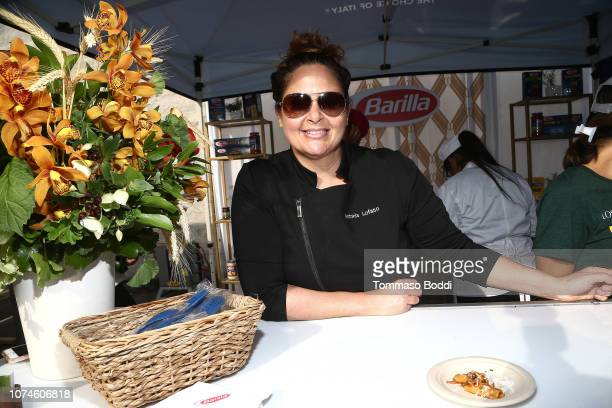 Antonia Lofaso attends the Eat Drink And Support Dining Experience Benefiting The Los Angeles Regional Food Bank at Los Angeles Regional Food Bank on...