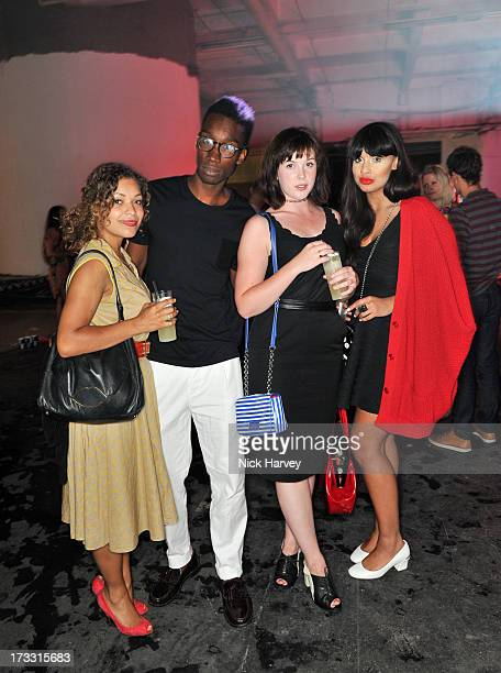 Antonia Rose Thomas Nathan StewartJarrett Alexandra Roach and Jameela Jamil attend the Lulu Guinness Paint Project party at Old Sorting Office on...