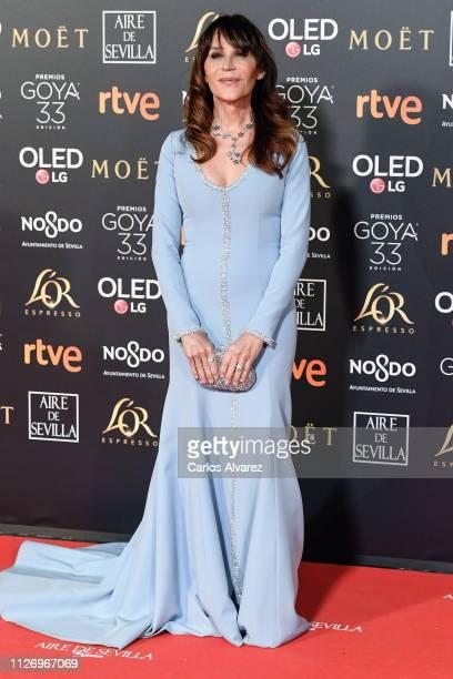Antonia San Juan attends the Goya Cinema Awards 2019 during the 33rd edition of the Goya Cinema Awards at Palacio de Congresos y Exposiciones FIBES...