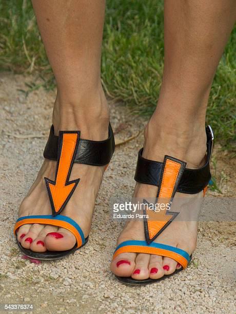 Antonia San Juan shoes detail attends the 'Yo Dona' international awards at La Quinta de la Munoza on June 27 2016 in Madrid Spain