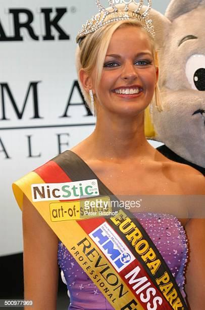 Antonia Schmitz EuroMaus Finale der Miss GermanyWahl 2005 Europapark in Rust/Freiburg PNr 156/2005 Schönheitskönigin Model Krone Schärpe Freizeitpark...