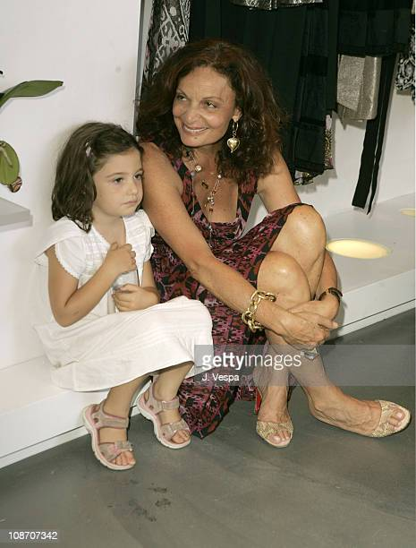 Antonia Steinberg and Diane Von Furstenberg during Diane von Furstenberg Los Angeles Store Opening Luncheon at Diane von Furstenberg Boutique in Los...