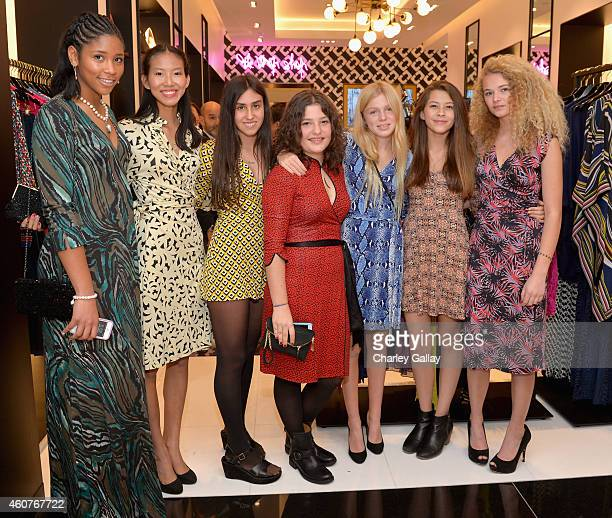 Antonia Steinberg and friends attend House of DVF Season Finale with Diane von Furstenberg at The Grove on December 21 2014 in Los Angeles California