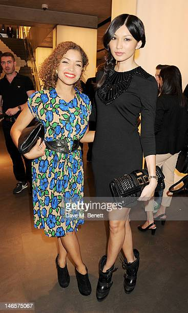 Antonia Thomas and Gemma Chan attend as EA7 Emporio Armani Summer Garden Live presents Summer of Sport at Emporio Armani on June 19 2012 in London...
