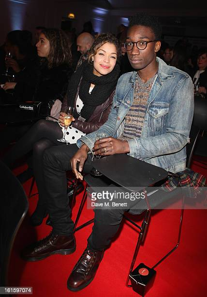 Antonia Thomas and Nathan Stewart attends the Collabor8te Connected by NOKIA Premiere at Regent Street Cinema on February 12 2013 in London England