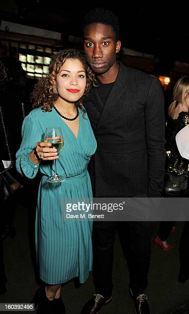 Antonia Thomas and Nathan StewartJarrett attend the InStyle Best Of British Talent party in association with Lancome and Avenue 32 at Shoreditch...