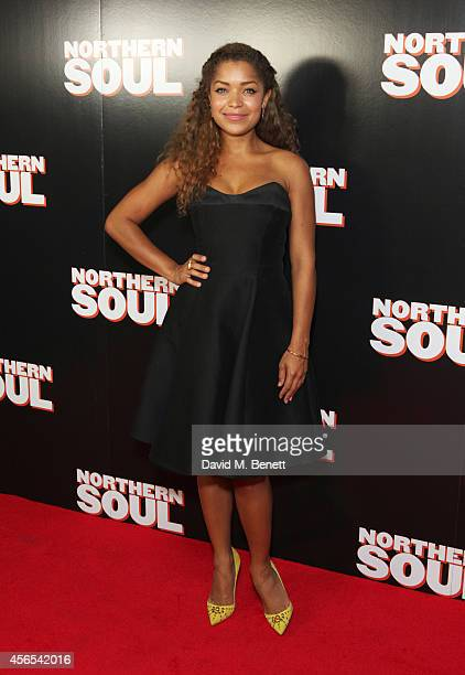 Antonia Thomas attends a Gala Screening of 'Northern Soul' at the Curzon Soho on October 2 2014 in London England