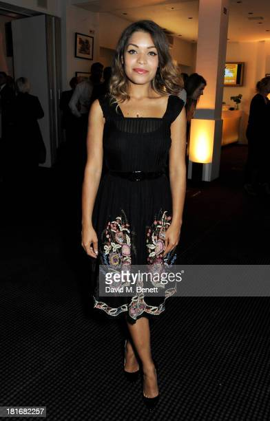 Antonia Thomas attends a special screening of 'Sunshine On Leith' hosted by Jamie Oliver and Dexter Fletcher at BAFTA on September 23 2013 in London...