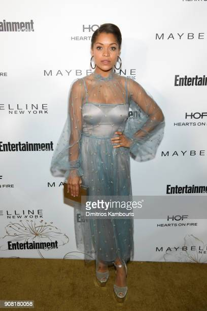 Antonia Thomas attends Entertainment Weekly's Screen Actors Guild Award Nominees Celebration sponsored by Maybelline New York at Chateau Marmont on...