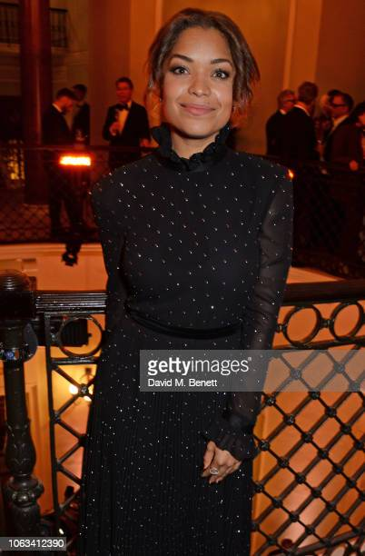 Antonia Thomas attends The 64th Evening Standard Theatre Awards at the Theatre Royal Drury Lane on November 18 2018 in London England