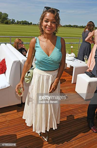 Antonia Thomas attends the Audi Polo Challenge 2015 at Cambridge County Polo Club on July 3 2015 in Cambridge England
