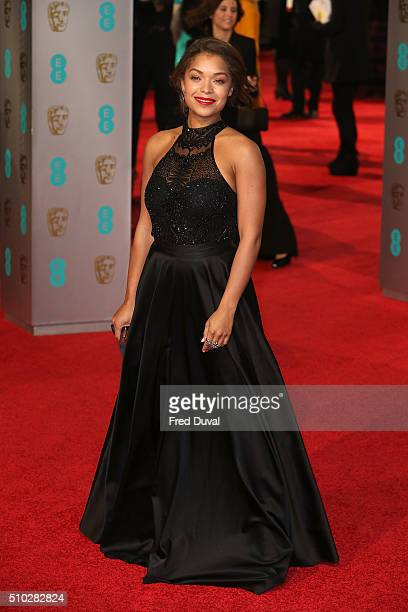 Antonia Thomas attends the EE British Academy Film Awards at The Royal Opera House on February 14 2016 in London England
