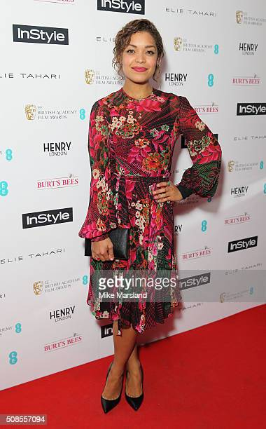Antonia Thomas attends the InStyle EE Rising Star PreBAFTA Party at 100 Wardour Street on February 4 2016 in London England