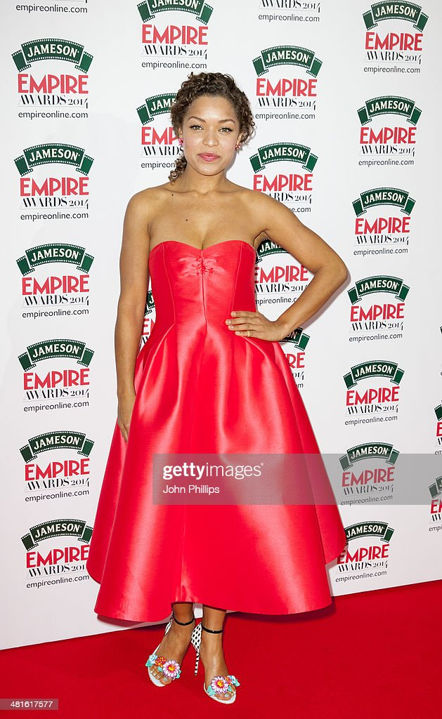 Antonia Thomas attends the Jameson Empire Film Awards at The Grosvenor House Hotel on March 30, 2014 in London, England.