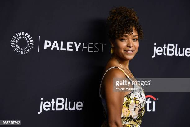 Antonia Thomas attends The Paley Center For Media's 35th Annual PaleyFest Los Angeles 'The Good Doctor' at Dolby Theatre on March 22 2018 in...